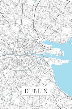 Mapa Dublin white