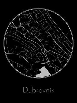 Mapa Dubrovnik