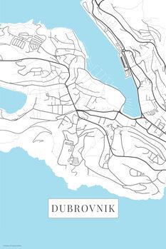 Mapa Dubrovnik white