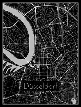 Mapa Düsseldorf