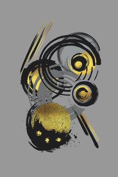 Illustration Dynamic Art No. 3 gold - Funky