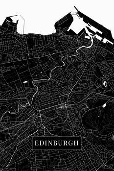 Mapa Edinburgh black