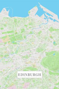 Mapa Edinburgh color