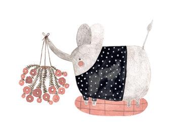 Ilustracja Elephants