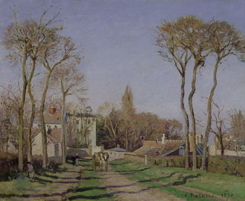 Entrance to the Village of Voisins, Yvelines, 1872 Kunsttryk