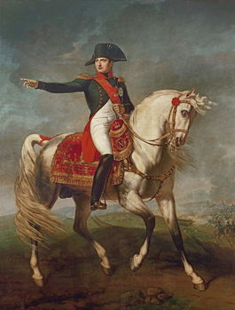 Equestrian Portrait of Napoleon I (1769-1821) 1810 Reproduction de Tableau