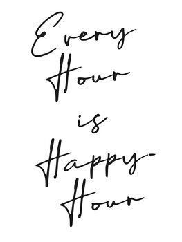 Ilustrace Every hour is happy hour