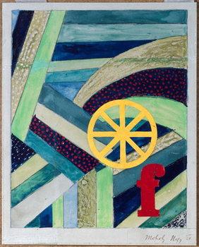 F in Feld, 1920 Kunstdruck