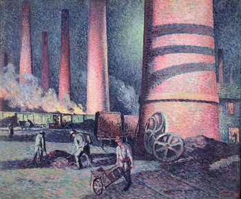 Artă imprimată Factory Chimneys, 1896