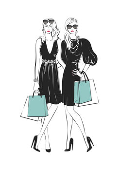 Ilustrace Fashion friends