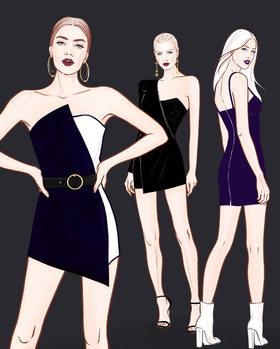 Ilustrace Fashion Girls - 2
