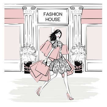 Ilustración Fashion House