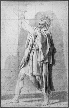 Reprodukcja Father of the Horatii, study for 'The Oath of the Horatii'