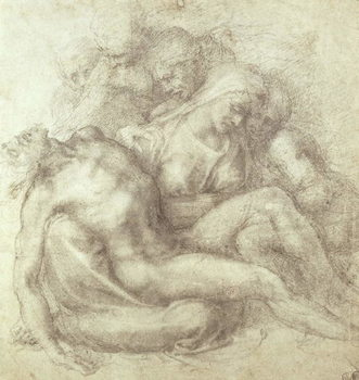Figures Study for the Lamentation Over the Dead Christ, 1530 Kunstdruk