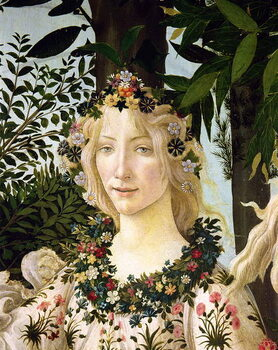 Kunsttrykk Flora, detail from the Primavera, c.1478