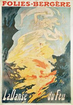 Kunsttryk Folies Bergere: la Danse du Feu, France 1897