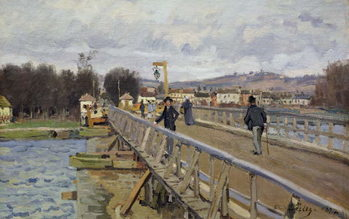 Stampa artistica Footbridge at Argenteuil, 1872