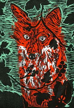 Fox in the Brambles, 2011, Kunstdruk