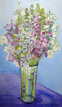 Obrazová reprodukce  Foxgloves and Campanulas,2005
