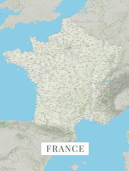 Mapa France color