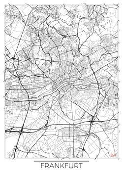 Mapa Frankfurt