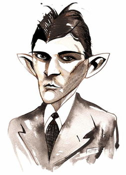 Reproduction de Tableau Franz Kafka  caricature