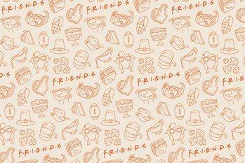 Művészi plakát Friends - Food