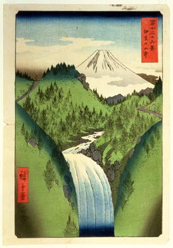 Reproducción de arte Fuji from the Mountains of Isu, No.22 from the series '36 Views of Mt.Fuji' ('Fuji Saryu Rokkei'),