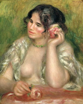 Kunstdruk Gabrielle with a Rose, 1911