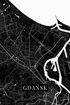 Mapa Gdansk black