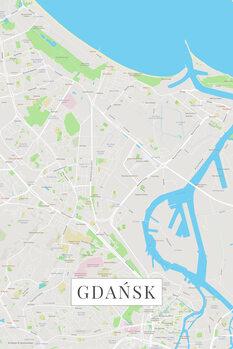 Mapa Gdansk color