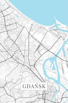 Mapa Gdansk white