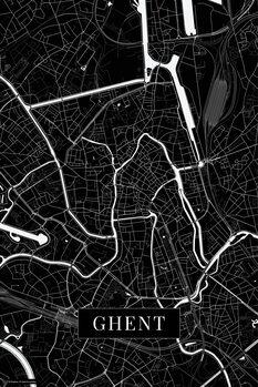 Kaart Ghent black