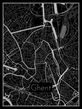 Kaart van Ghent