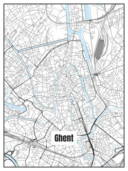 Mapa Ghent