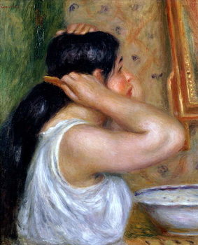 Girl Combing her Hair, 1907-8 Kunstdruck