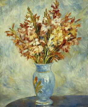 Umelecká tlač Gladioli in Blue Vase; Glaieuls au Vase Bleu, 1884