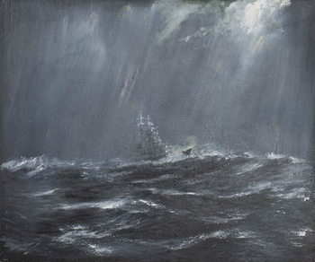 Konsttryck Gneisenau in a Storm North Sea 1940, 2006,