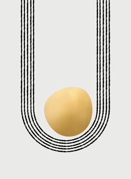 Ilustrace Gold unbalanced