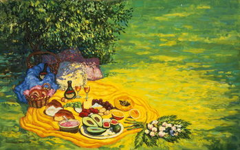 Golden Picnic, 1986 Kunstdruck