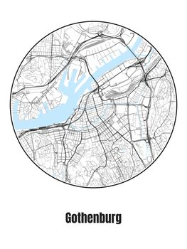 Mapa Gothenburg