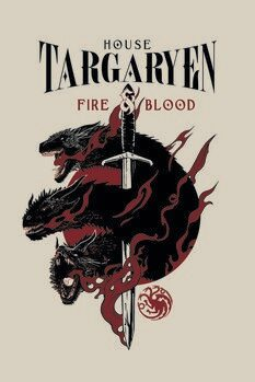 Plakat Gra o tron - House Targaryen