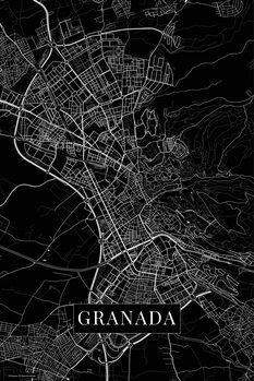 Mapa Granada black