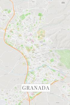 Mapa Granada color