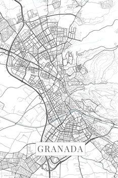 Mapa Granada white