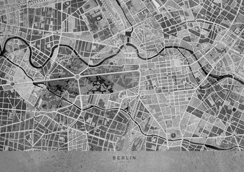 Mapa Gray vintage map of Berlin