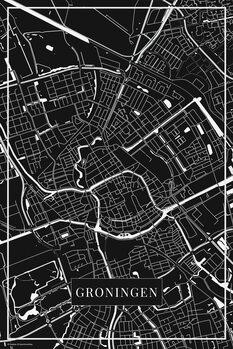 Mapa Groningen black