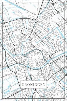 Mapa Groningen white