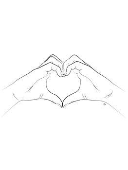 Ilustrace Hand Heart