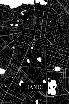 Mapa Hanoi black